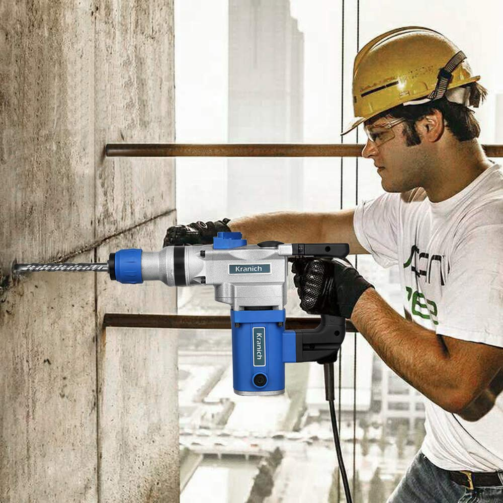 Bohrmaschine Set Professional Bohrhammer Elektrisch 1000Watt, SDS-Plus, Bohrer Set 8//10//12mm, im Koffer