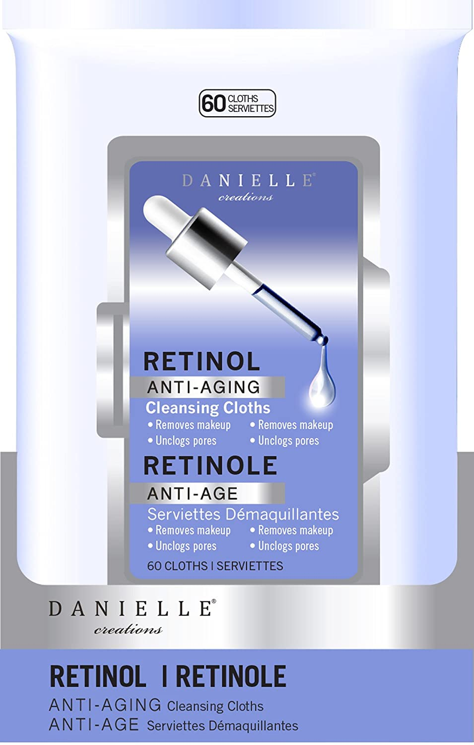 Danielle Creations 60-Count Anti-Aging Retinol Makeup Remover Wipes
