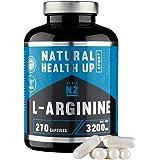 L-arginina 3,2 gramos dosis pura diaria – Suplemento deportivo para la mejora de la masa muscular – Extra de vitamina B6…