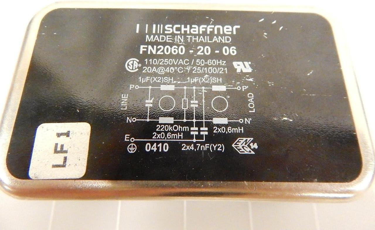 Schaffner FN2060-20-06 Multi Two-Stage General Purpose EMI Filter 250VAC 50//60Hz