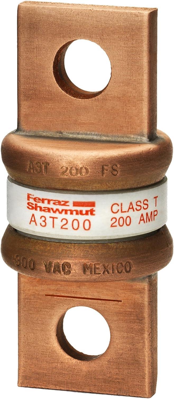 1-1//16 Diameter x 2-7//16 Length 200kA AC//50kA DC 200 Ampere 300VAC//160VDC Mersen A3T Fast Acting//Class T Fuse