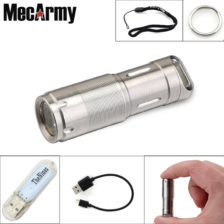 MecArmy X2S Mini torcia LED perfetta come portachiavi in auto e in campeggio Polish sta nel palmo di una mano con ricarica USB impermeabile MecArmy--X2S