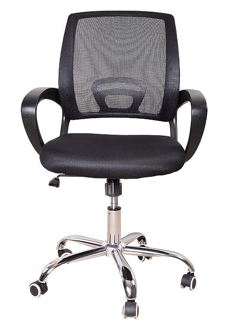 Adinath Furniture AF915 Office Arm Chair (Black)