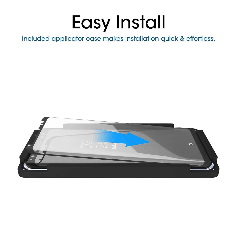 amFilm Protector de Pantalla Galaxy S8, Cobertura Total (3D Curvo) Cristal Vidrio Templado Protector de Pantalla para Samsung Galaxy S8 (1 Pack, ...
