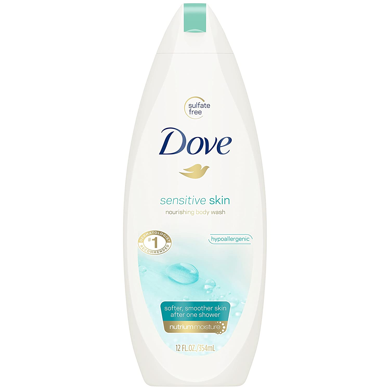 Dove Sensitive Skin Uncented Beauty Body Wash 350ml 001111112403