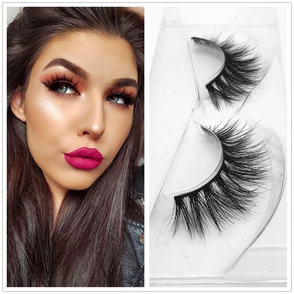 b5b087a838b Amazon.com : 3d39 Lashes 1 pair 3D Handmade Thick Mink Eyelashes Natural  False Eyelashes for Beauty Makeup fake Eye Lashes Nice Box (3D19) : Beauty