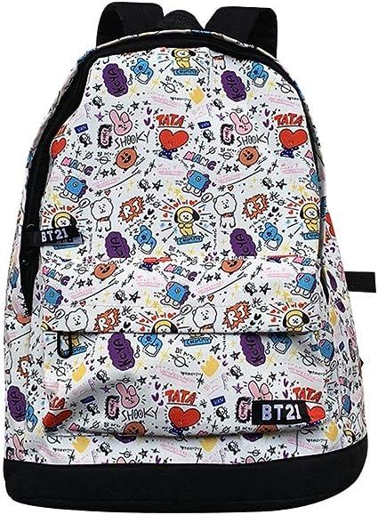 KPOP BTS Backpack BT21 Schultasche Ranzen Taschen Rucksäcke Tasche