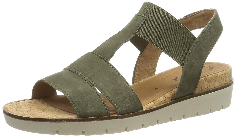 Vert (Oliv Natur 11) Gabor chaussures chaussures Gabor Décontracté, Sandales Bride Cheville Femme  pas cher