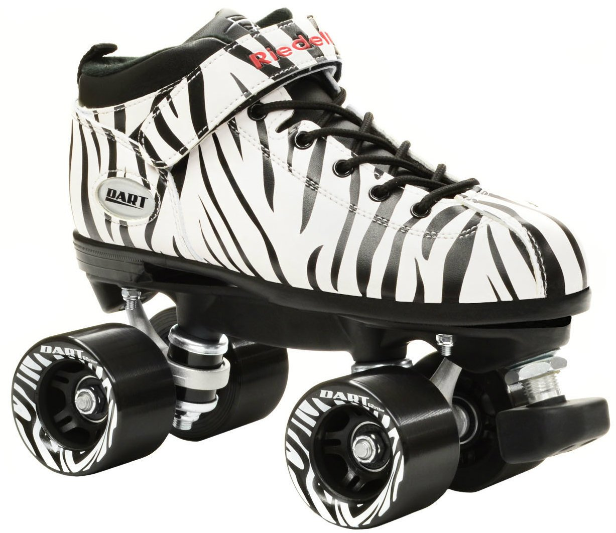 Riedell Zebra Dart Quad Speed Skates (Mens 11 / Ladies 12) by Riedell