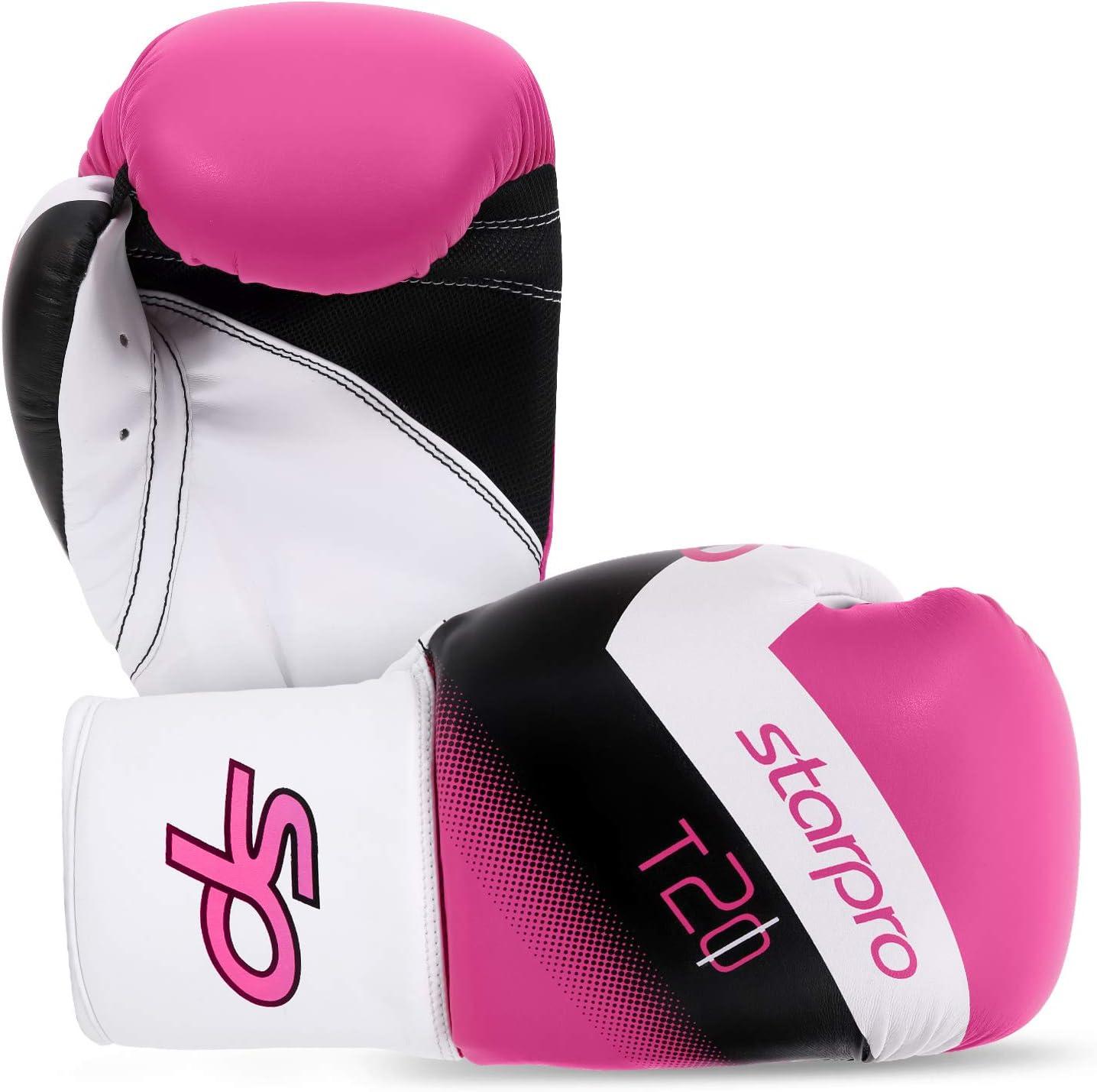 Starpro Gants de Boxe Enfant pour Entrainement 6oz et 8oz Synth/étique Cuir Gant pour Sparring Muay Thai Sac Frappe Entra/înement Mitaines Kickboxing Comp/étition