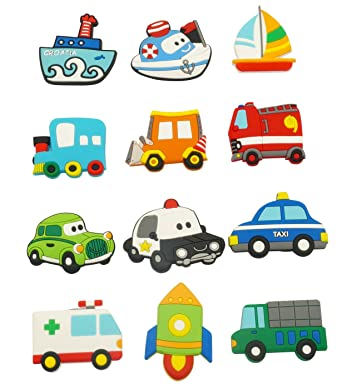 Happy Cherry Fridge Magnets Magnetic Toy Cartoon Car Vehicles Magnets Whiteboards Fridge Crafts