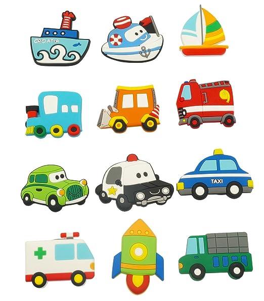 Amazoncom Fridge Magnets For Toddlers Cute Car Vehicle Cartoon