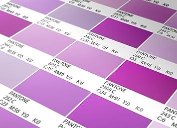 Pantone Fliesenaufkleber Violet Modell Wandfarben Ideen (Packung Mit 56)  (BODEN   10 X