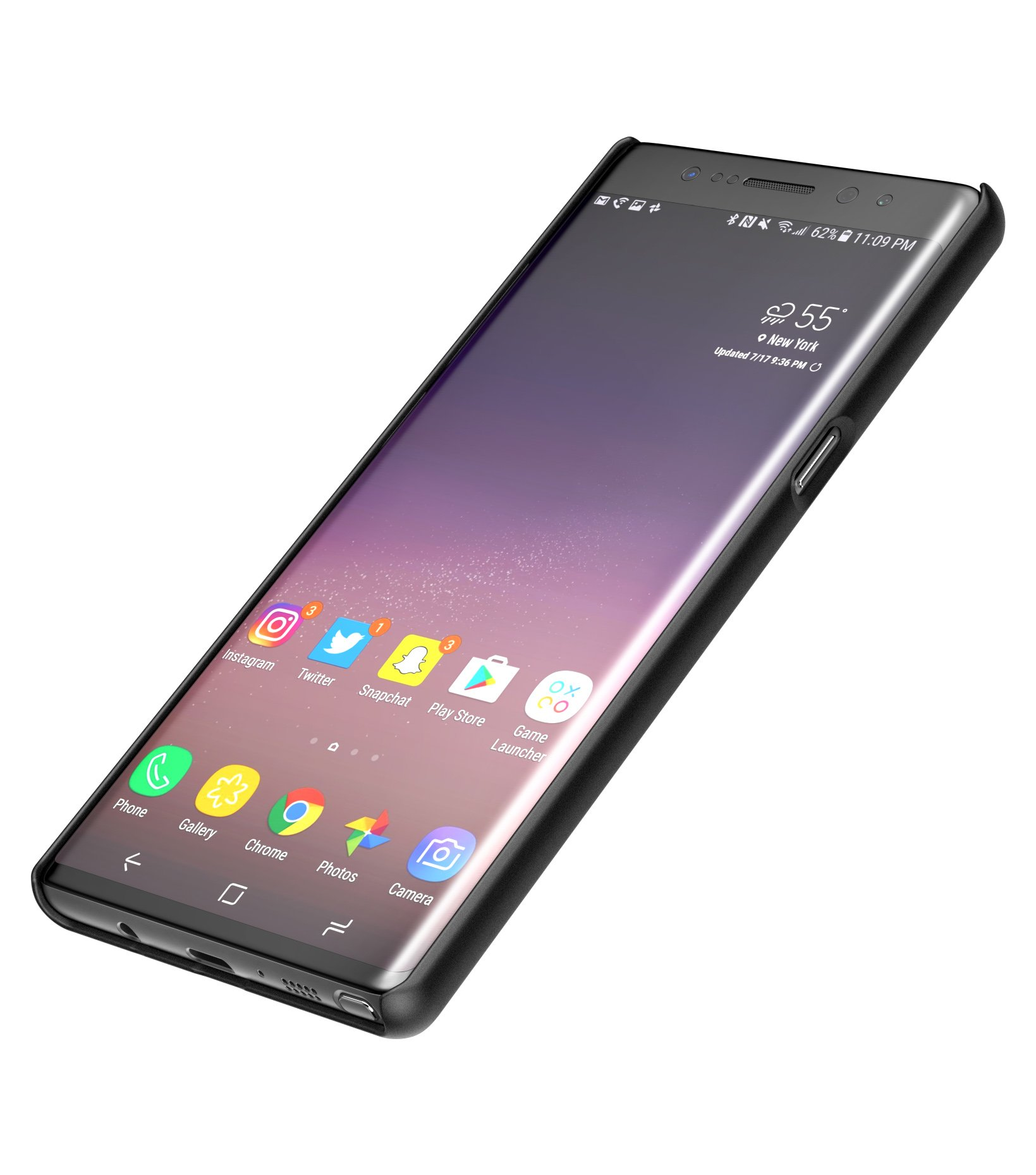 Samsung Galaxy Note 8 Belt Holster, Encased Thin Fit [DuraClip Series] Slim Grip Case & Belt Clip (Smooth Black) by Encased (Image #3)