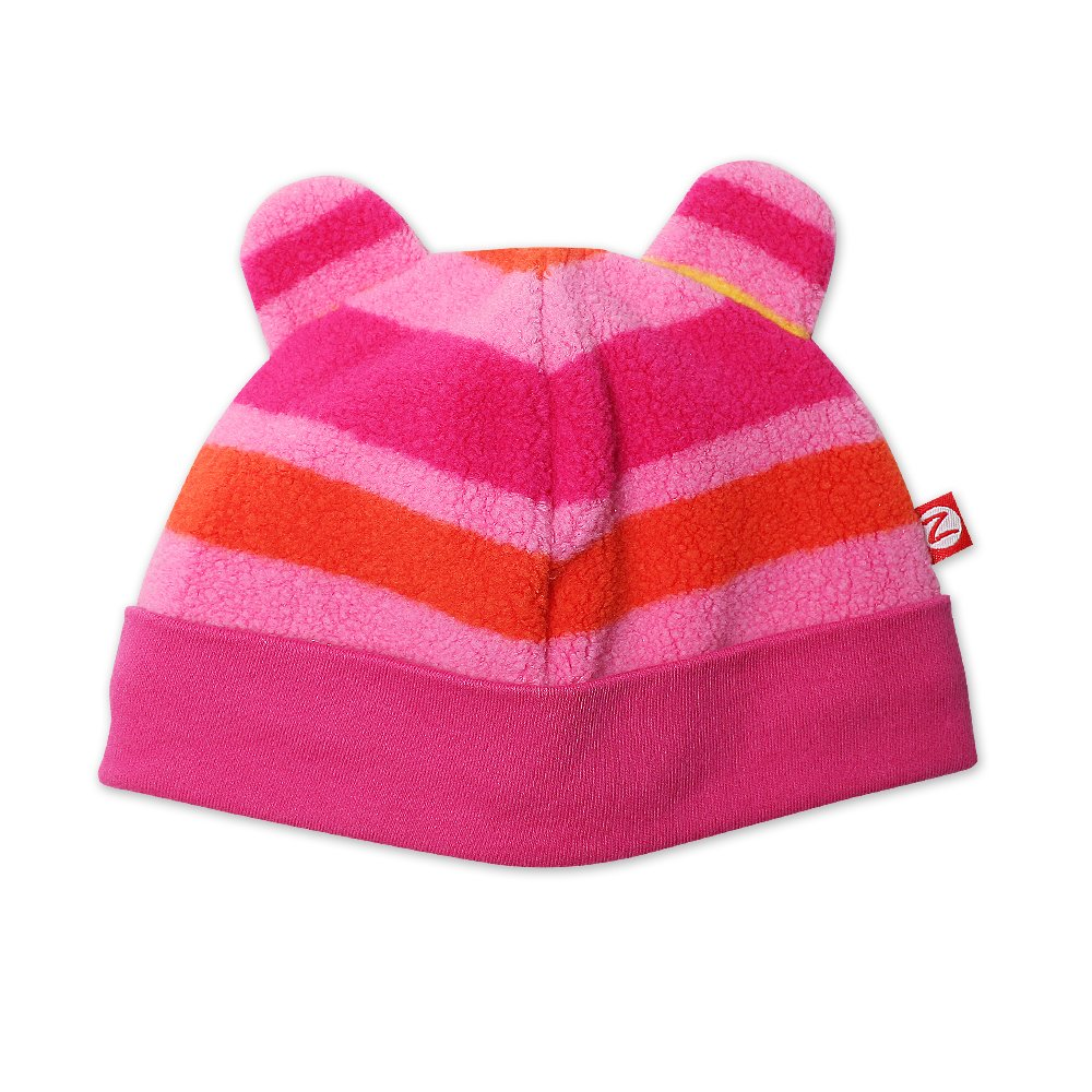 Zutano Baby Girls Fleece Bold Stripe Hat