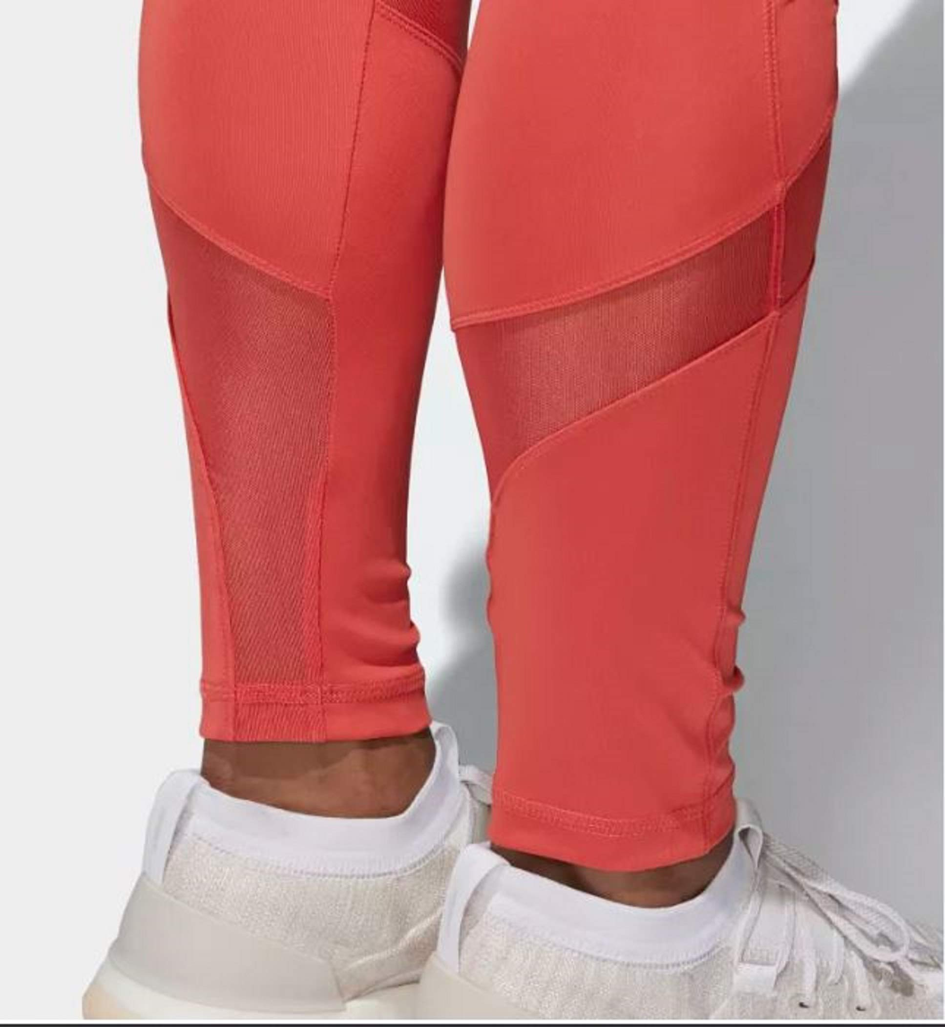 adidas Women's Climalite Ultimate High Rise Printed Long Tights, Trace Scarlet/Print, Small by adidas (Image #10)