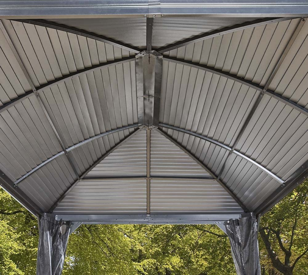 Sojag Moreno - Cenador de aluminio (298 x 423 cm, ideal para verano, techo rígido)