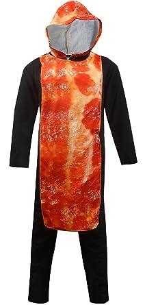 Unisex Sizzling Bacon Hooded Onesie Pajama