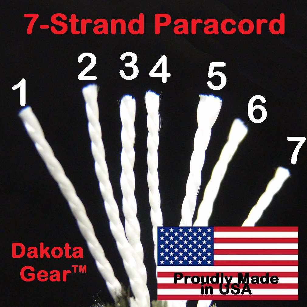 Paracord Deep Emerald Green 100 ft. Hank, 7 Internal Strands, 550 Lb. Break Strength.  Military Survival Parachute Cord for Bracelets & Projects.  Guaranteed Made In US.  Includes 2 eBooks. by Dakota Gear (TM) (Image #7)