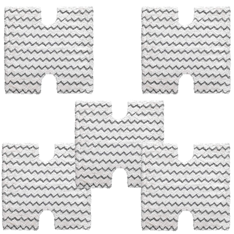 VacuumPal 5-Pack Shark Touch Free Dirt Grip Washable Microfiber Pad Replacememt for Shark Lift Away Pro & Genius S3973 S3973D S3973WM S5002Q S5003A S6001 S6002 S6003 Steam Mop,Part # XTP184 & P184WQ by VacuumPal