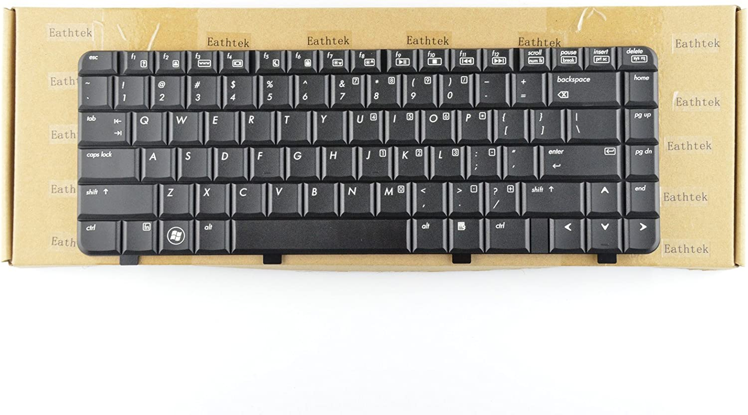 Eathtek Replacement Keyboard For HP Pavilion dv4 dv4-1000 DV4t-1400 CTO series Black US Layout, Compatible with part number 518793-001