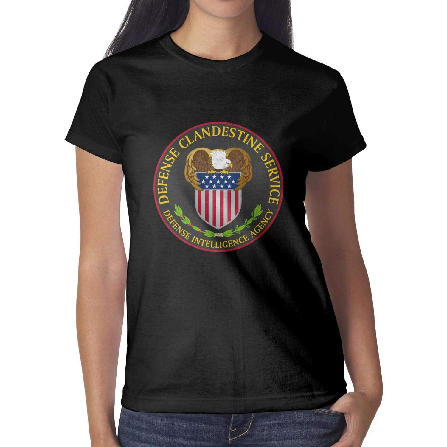 T-Shirt Breathable Solid Shirts Girls Tops Defense Intelligence Agency Essential