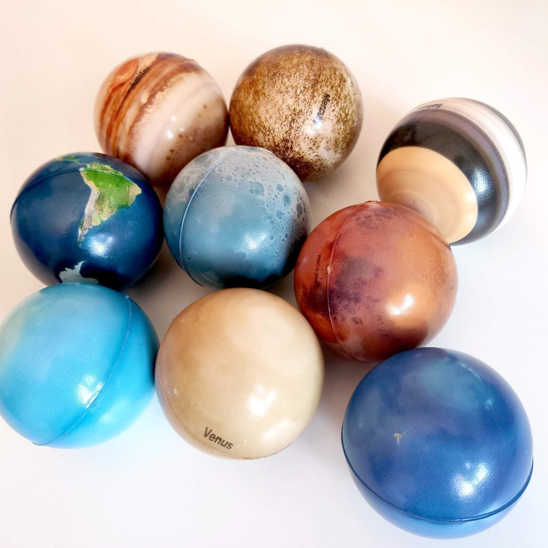Contiene 9 Pelotas antiestr/és Framan Pack antiestr/és de Planetas con 8 Planetas y la Luna