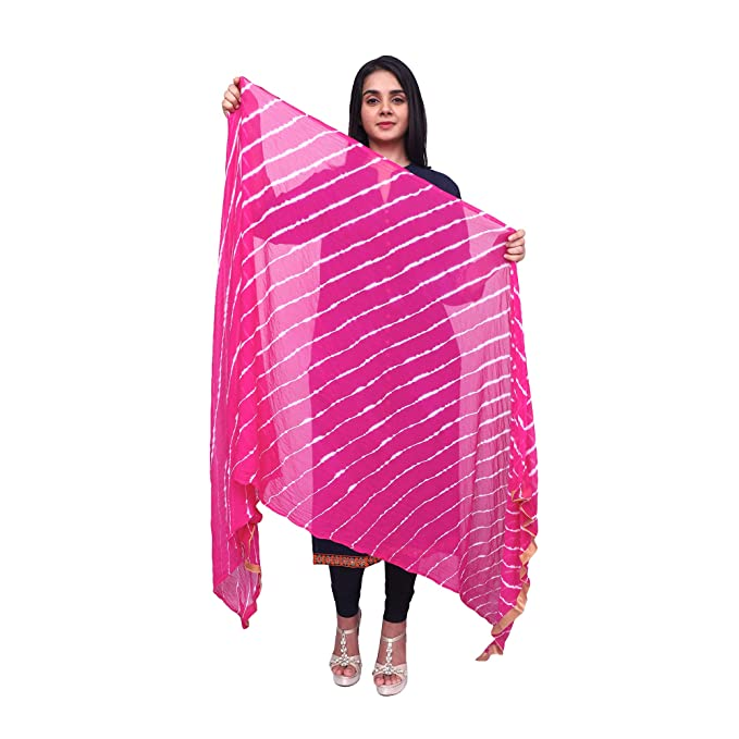 2593f83a791 Anoma Chiffon Pink Colour Dupatta For Womens & Girls: Amazon.in: Clothing &  Accessories