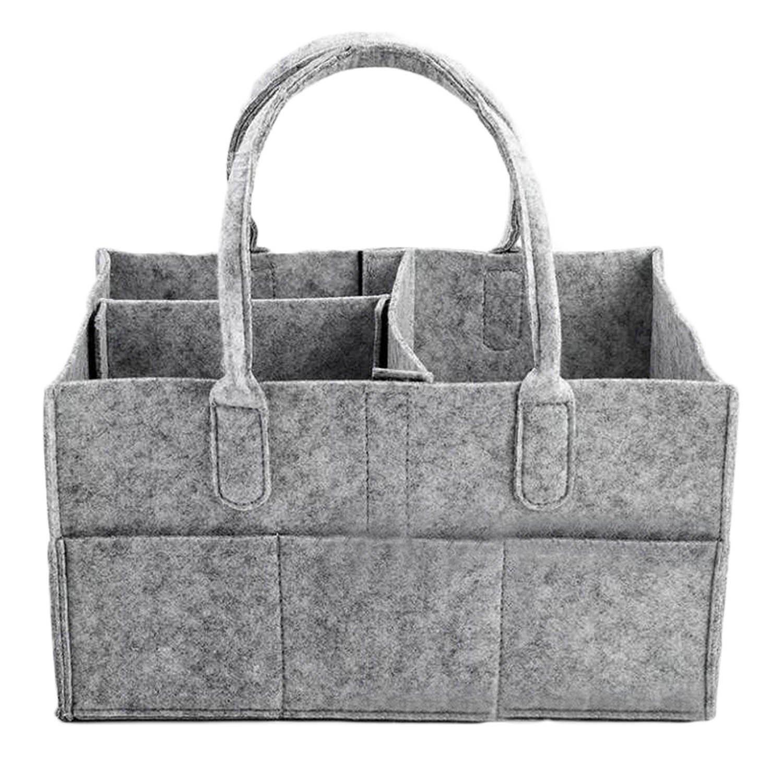 Bambino pannolino Caddy Organizer Portable durevole Carrier feltro borsa stoccaggio Tote Bag con maniglia per giocattoli trucco cosmetico Magazine Migavan