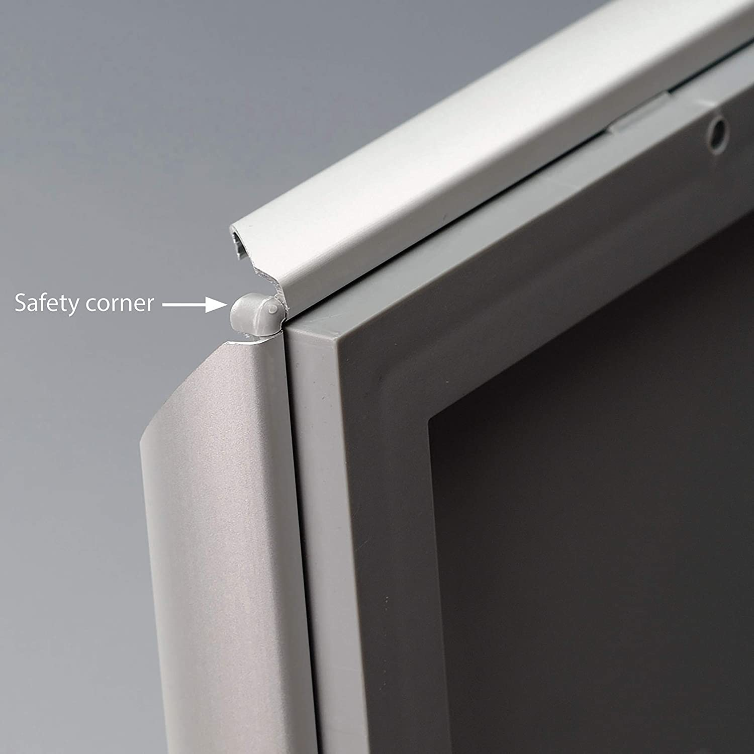1 inch Profile-  Silver 10 DisplaysMarket 8.5x11  Snap Frame for Wall Mount Opti Frame