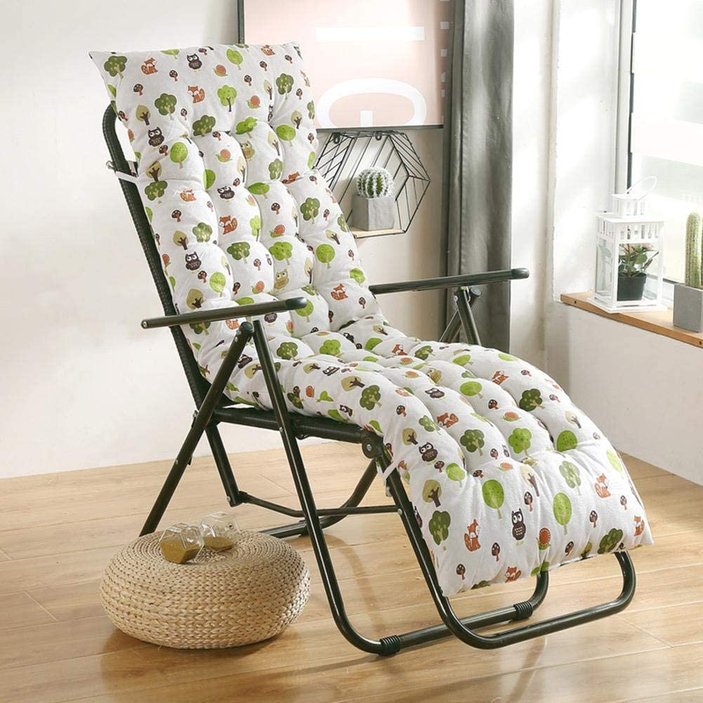 Sun Lounger Cushions Garden Furniture Cushions Portable Garden Patio Thick Padded Bed Recliner Relaxer Chair Seat Cover(48x155x8cm)
