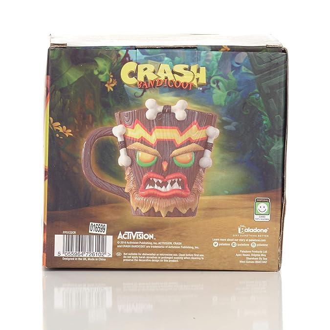 Paladone - Taza 3D Crash Bandicoot Uka Uka (PS4)