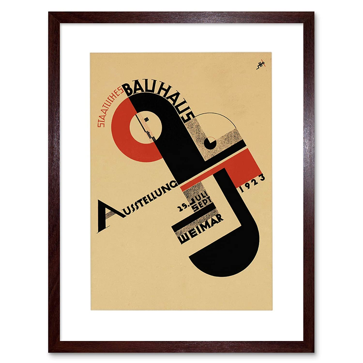 Bauhaus Weimar ICON Vintage AD Frame Art Print Picture F12X319 The Art Stop