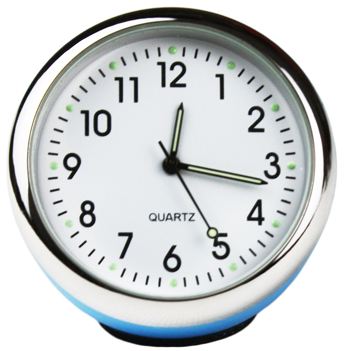Txian Custom High Accuracy Car Clock Small Round Onboard Quartz Clock Perfect Car Decoration (white dial & white shell)