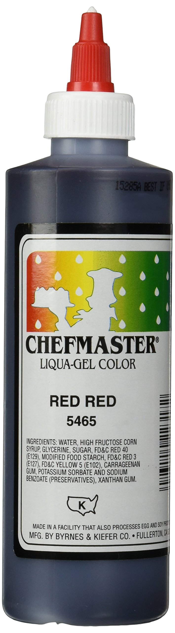 Chefmaster Liqua-Gel Food Color, 10.5-Ounce, Red