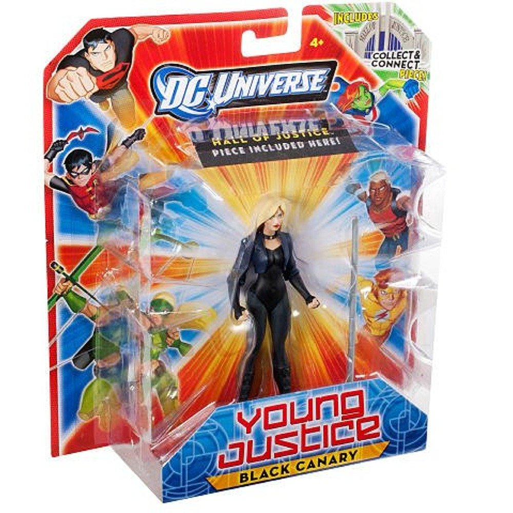 DC Universe Young Justice 10cm Action Figure - nero Canary