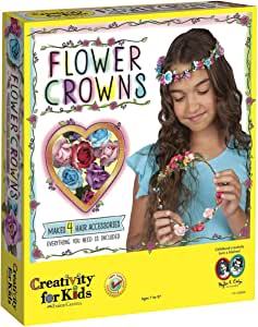 Creativity for Kids Flower Crowns - Hair Accessory Kit For Kids