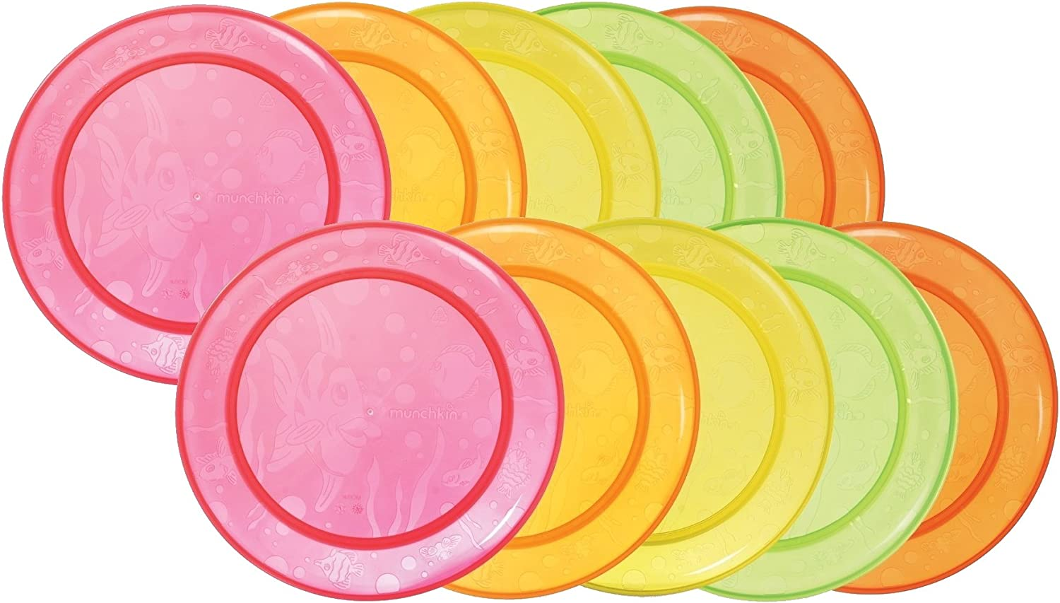 Munchkin 10 Pack Multi Plate Colors May Vary