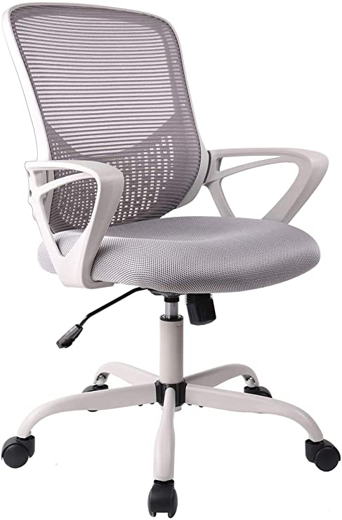 Office Chair Ergonomic Desk Chair Computer Task Chair Mesh With Armrests Mid Back For Home Office Conference Study Room Gray Kitchen Dining