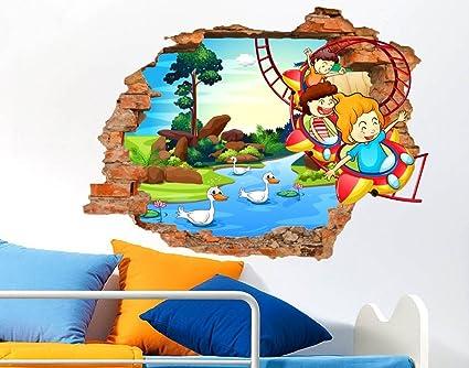 Disegni Murales Per Bambini.Adesivo Murale Per Bambini Stickerdesign Made In Italy