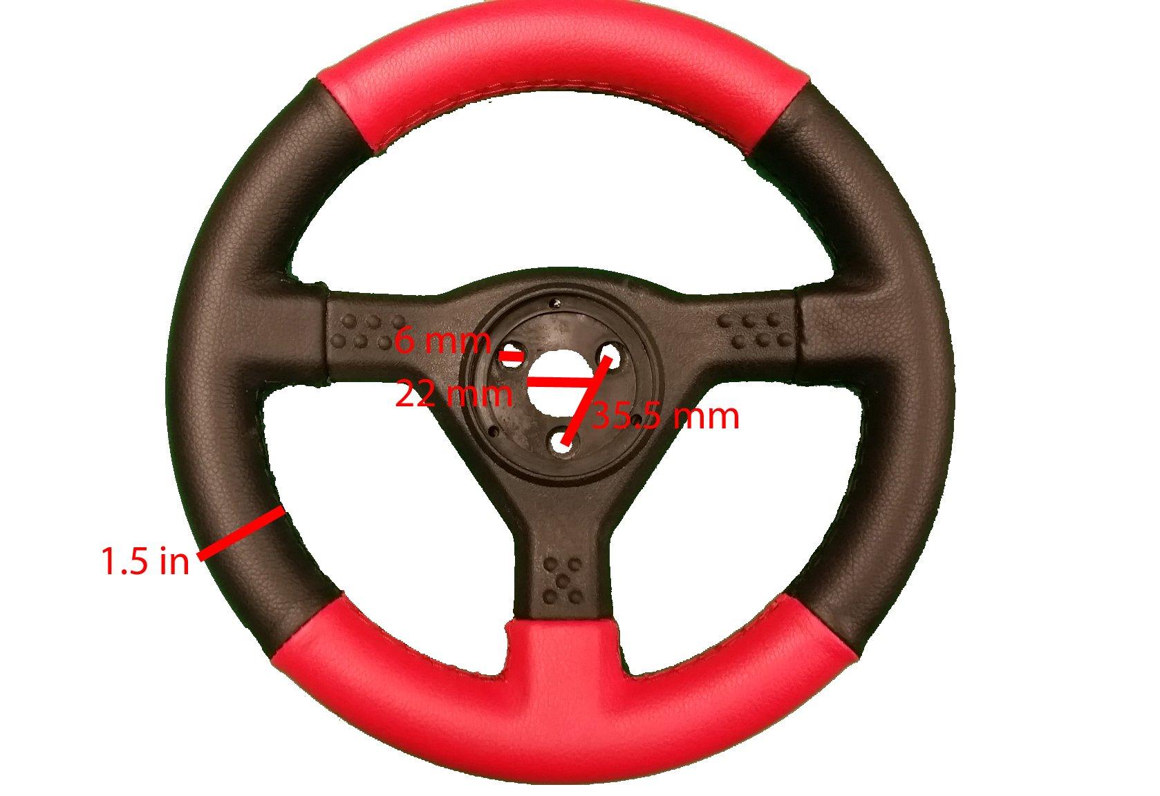 Bintelli Racing Go Kart Part Racing Go Kart Steering Wheel - Kids Kart Part - BK-220