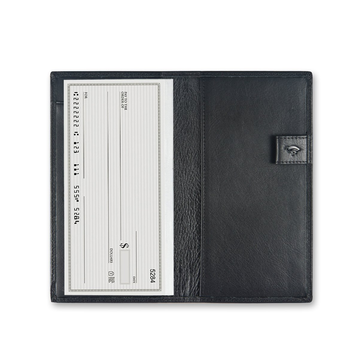 Checkbook Cover with Divider for Men/Women,Made by Italy Leather by IKEPOD