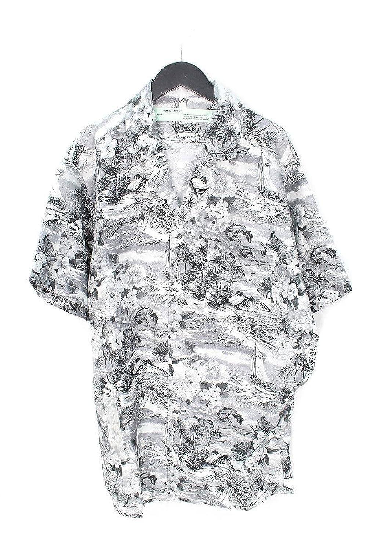 (オフホワイト) OFF-WHITE 【18SS】【HAWAIAN SHIRT】オーバーサイズシルクアロハシャツ(M/ブラック×ホワイト) B07FCCVX1X  -