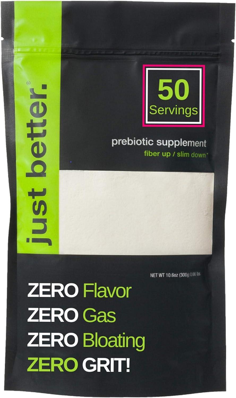 Prebiotic Fiber Supplement for a Healthy Gut   Fiber Powder with Zero Grit Zero Taste and No Bloating or Gas   Feel Full Faster   Keto Non-GMO Gluten Free Vegan 50 Servings