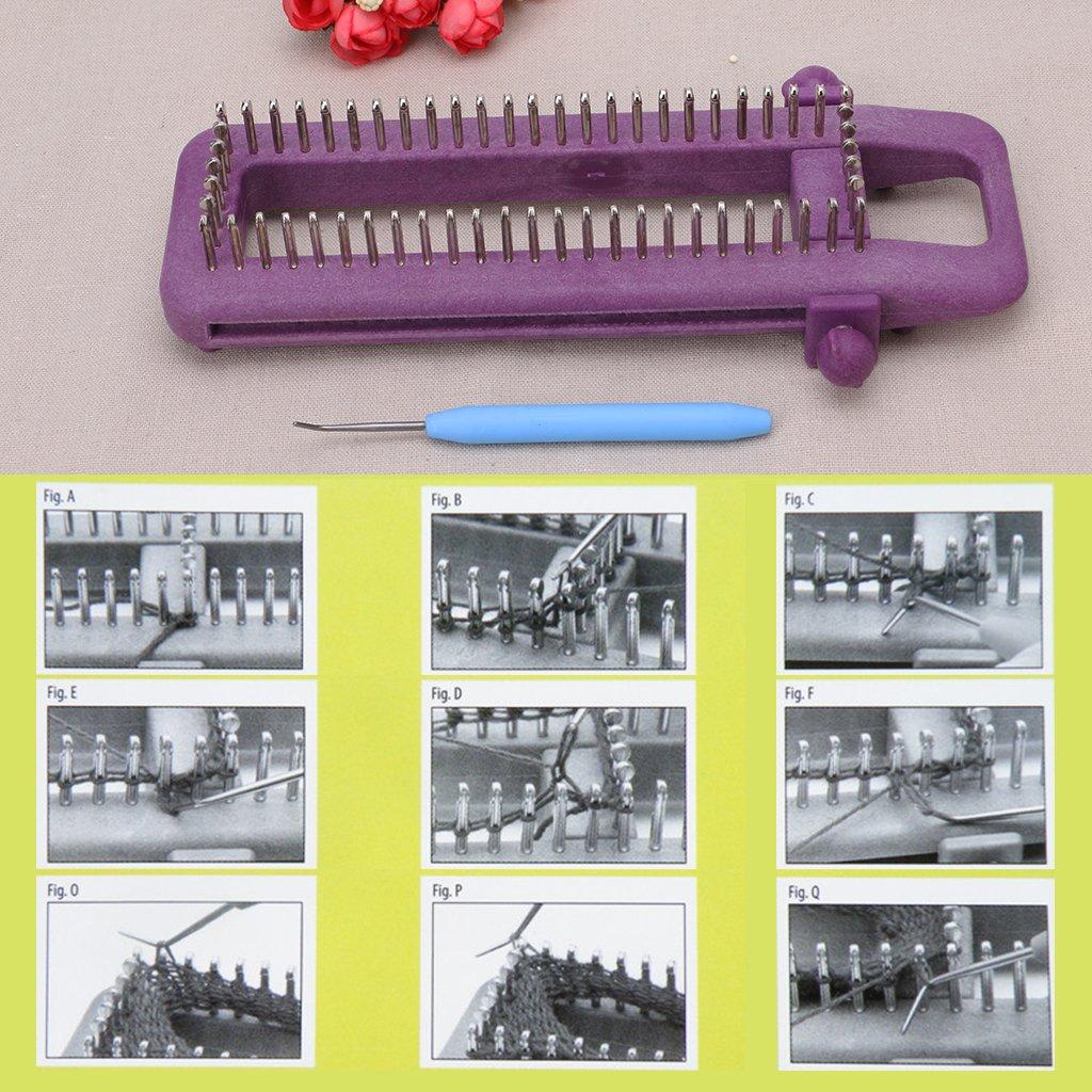 OTGO Adjustable Loom Knitting Kit for Socks Scarf Scarves Hat DIY Hand Craft Tool,Plastic