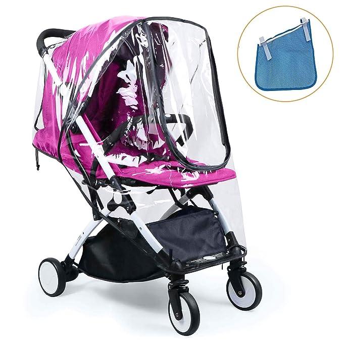 HULISEN Bebé Cochecito Cubierta Universal Para Lluvia Impermeable, Polvo Viento Shield Cochecito Accesorios: Amazon.es: Bebé