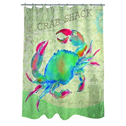 Amazon Thumbprintz Salty Air Crab Shower Curtain Home Kitchen