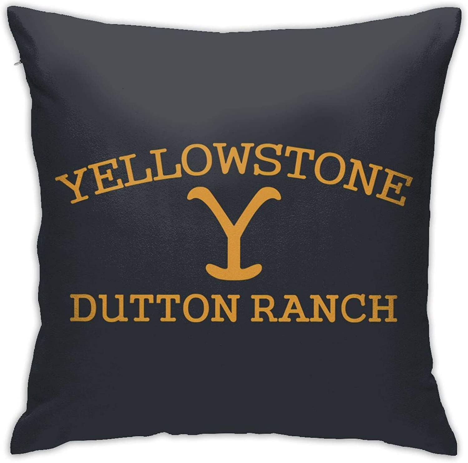 Yellowstone Dutton Ranch Home Decor Pillowcase Soft Plush Fabric Pillow Cushion Chair Cushion for Living Room Bedroom 18 X 18 Inch