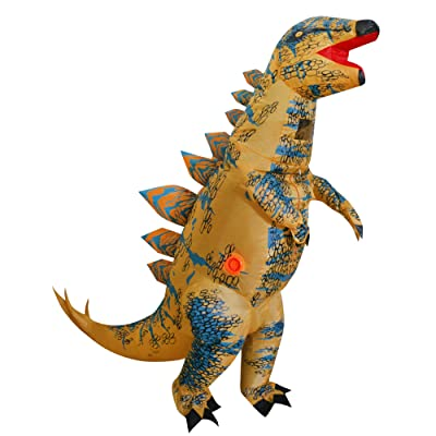 "Inflatable Dinosaur Costume for Kids, T-Rex Skeleton Stegosaurus Halloween Fancy Dress (Child (Height 4'-4'11""), Stegosaurus): Clothing"