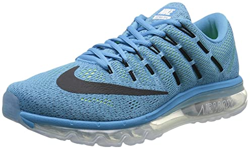 sale retailer bee8c fd242 Nike Men s Air Max 2016 806771-400 Running Shoes, Lagoon Black-Brave
